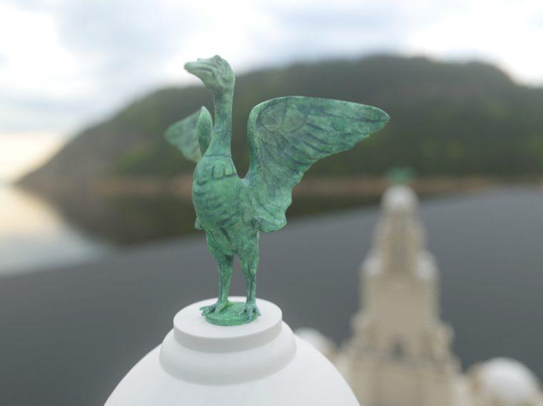 Colour image of a bird figurine